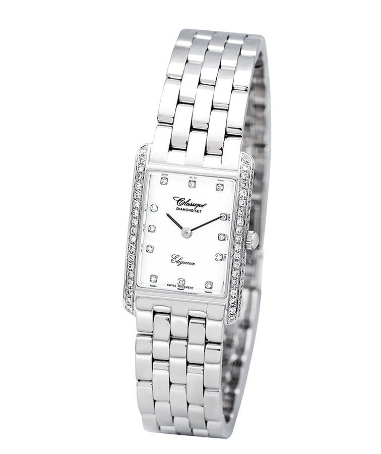 Photo of Ladies Solid White Diamond Watch