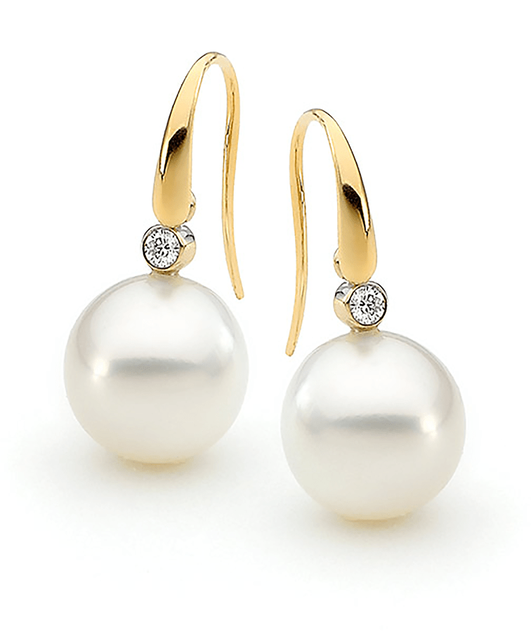 Photo of Allure South Sea Pearl and Diamond Earrings
