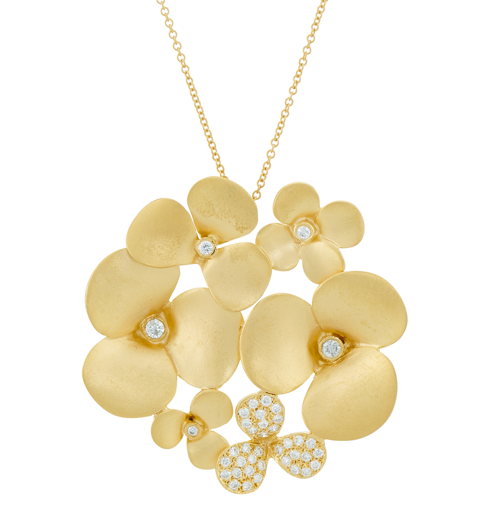 Photo of MARIKA Gold Diamond Flower Necklace