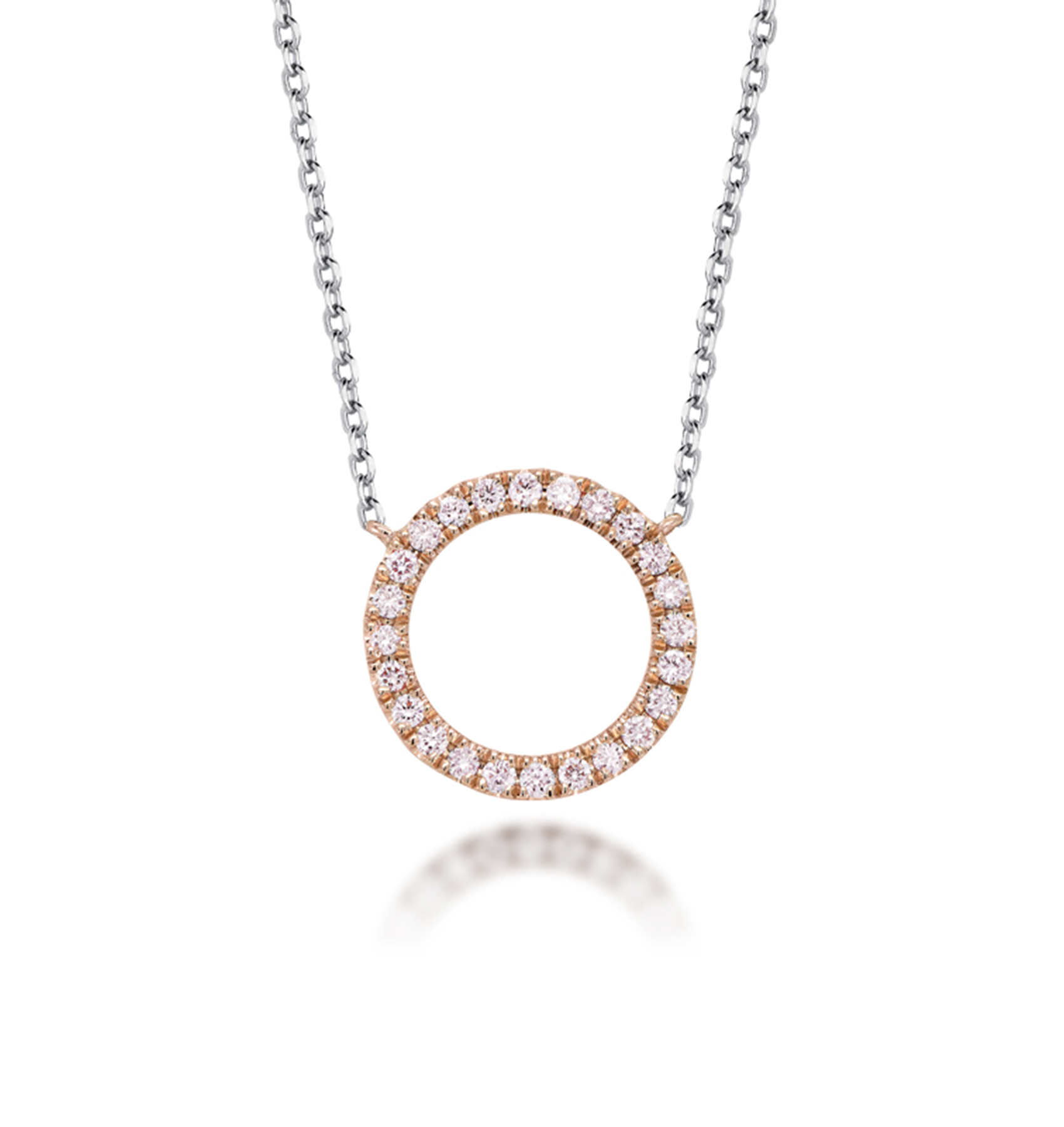Photo of Blush Pink and White Diamond Necklace