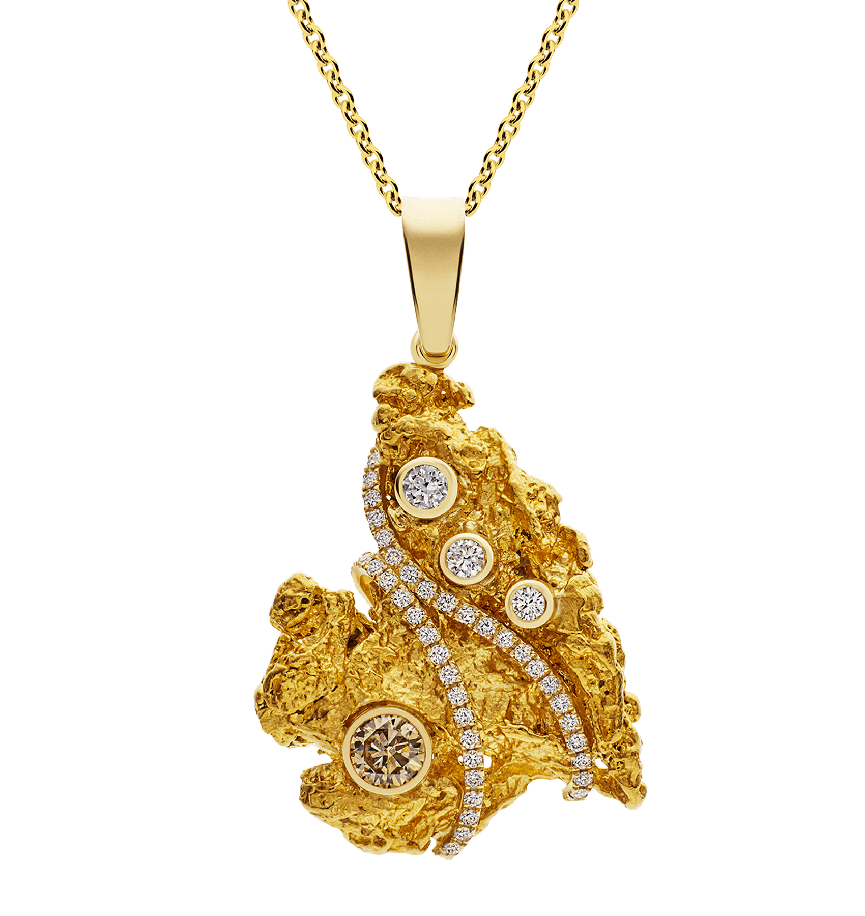 Photo of Champagne Diamond Nugget Pendant