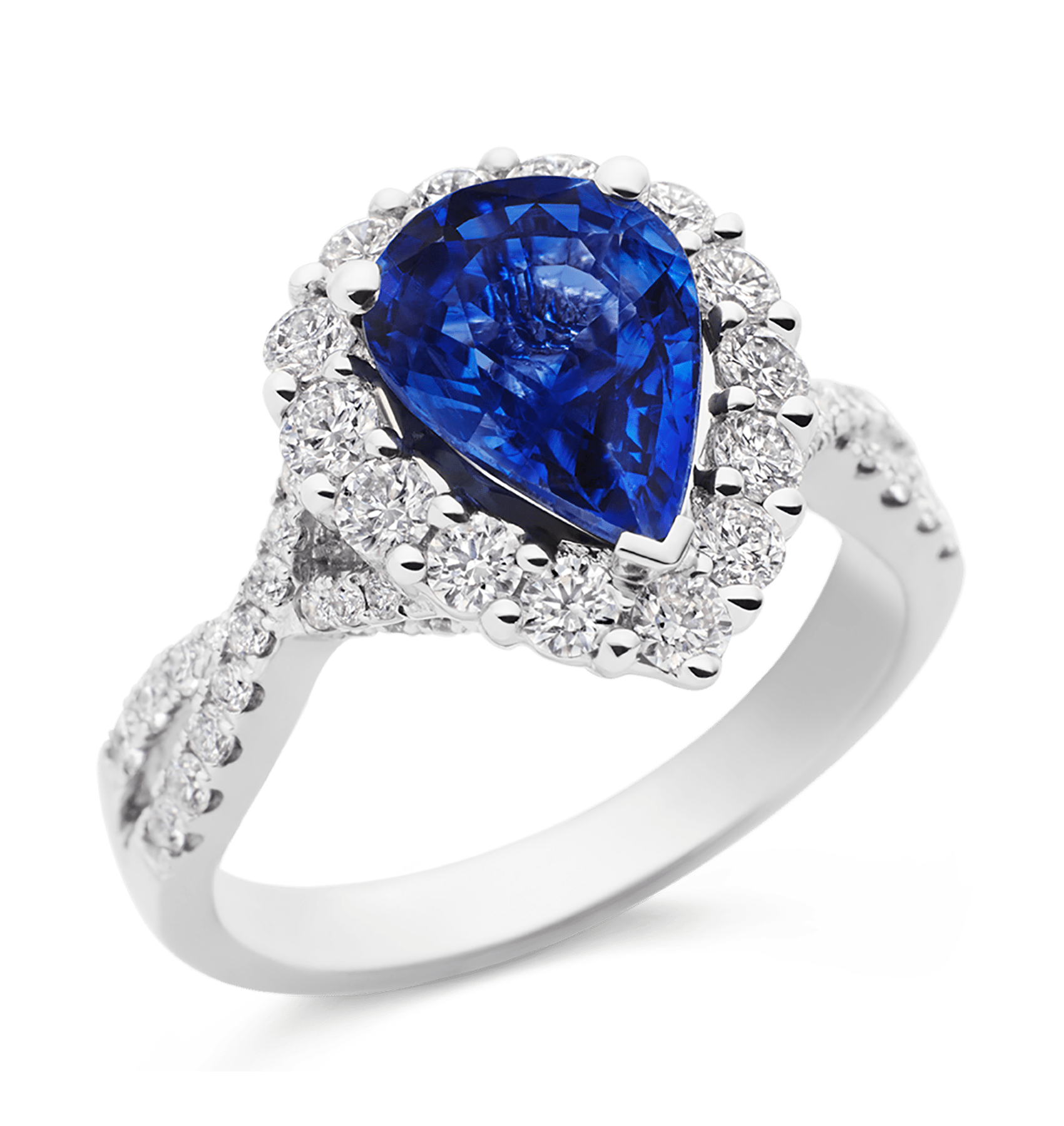 Photo of Diamond and Sapphire Ring
