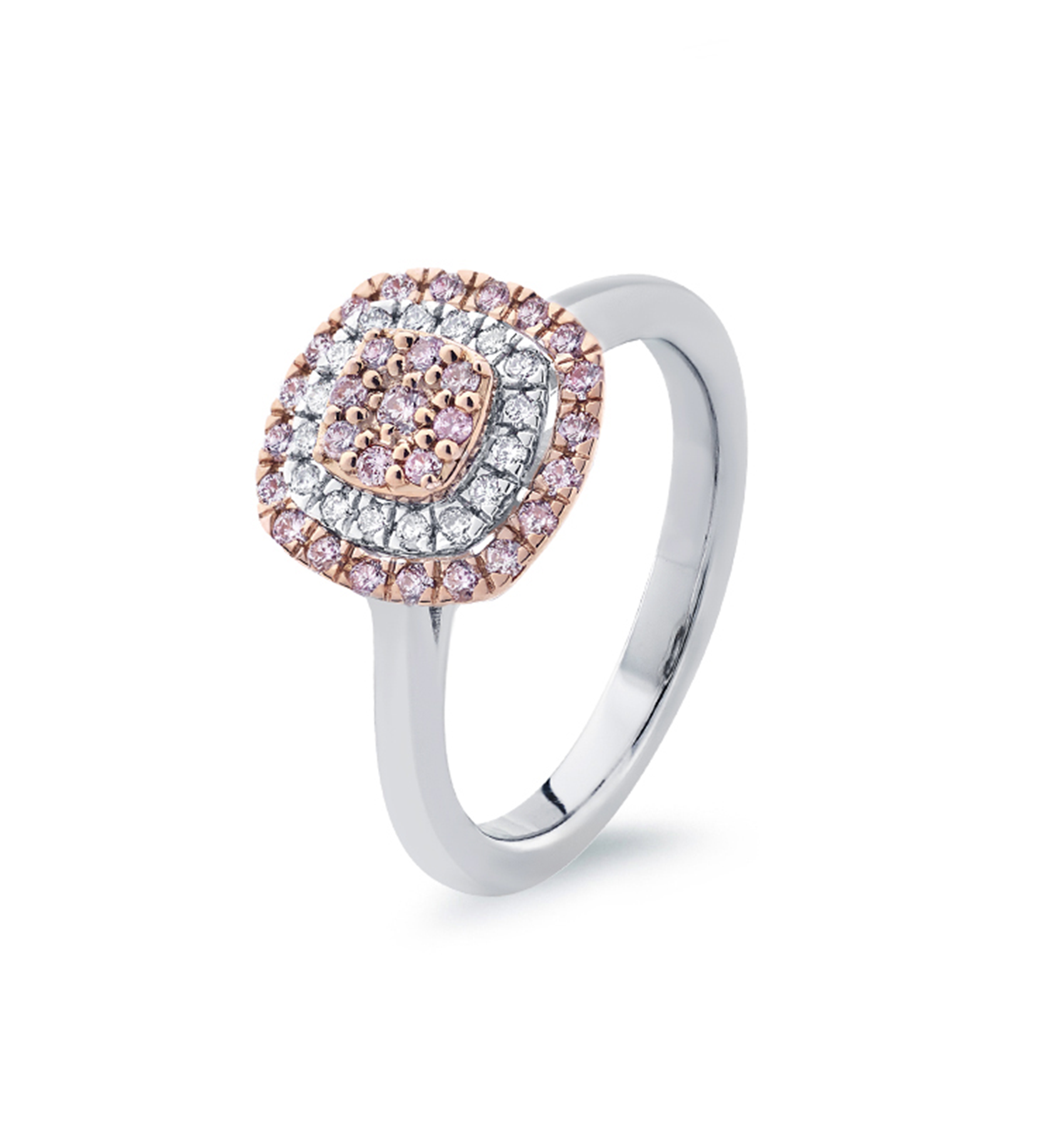 Photo of Blush Pink and White Diamond Ring
