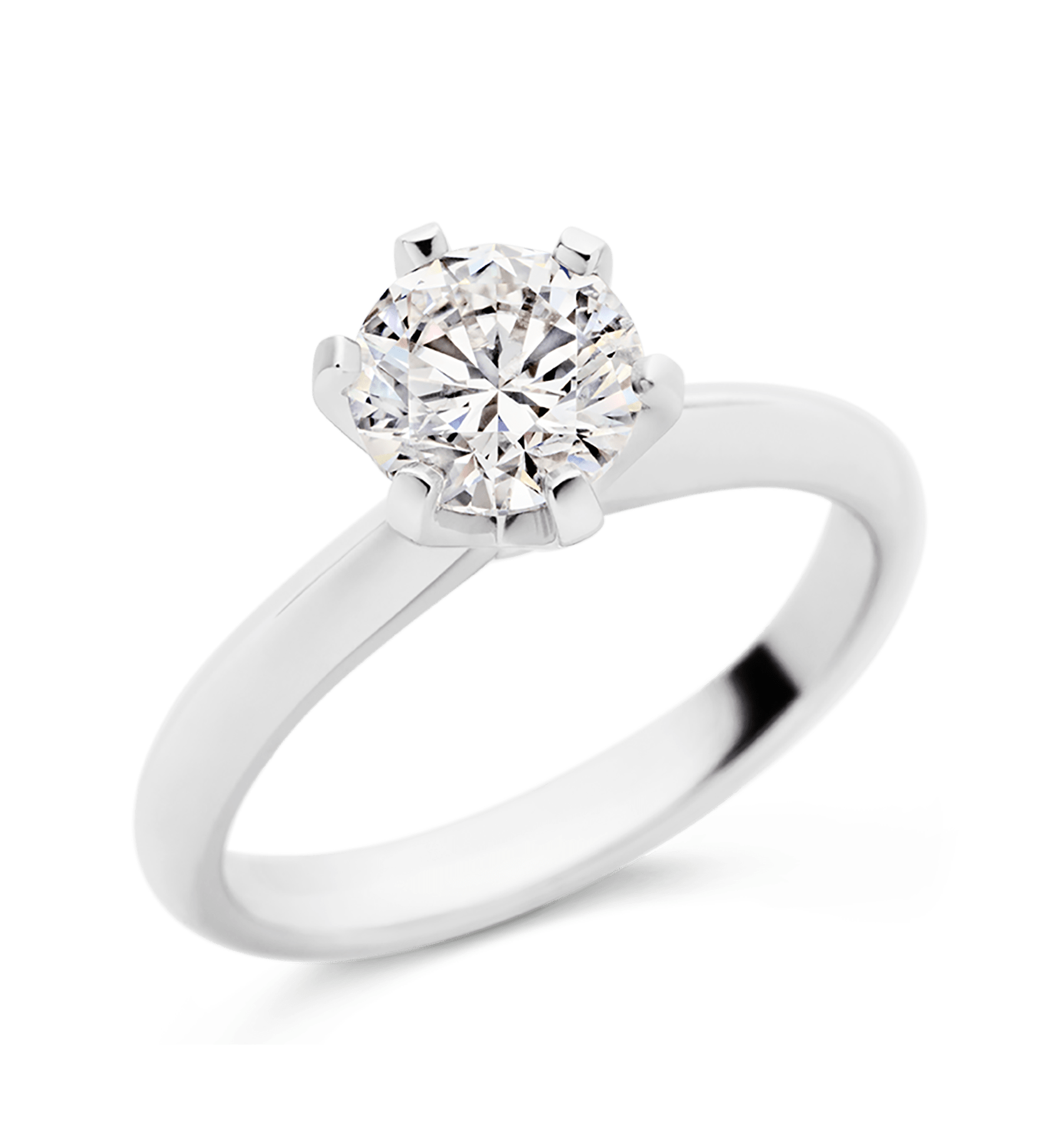 Photo of Six Claw Diamond Solitaire Ring