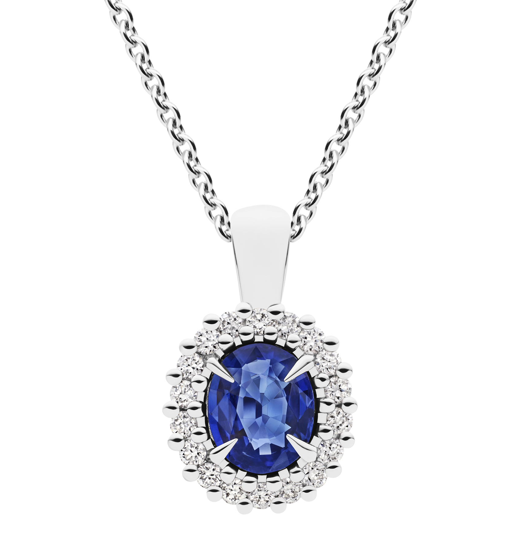 Photo of Diamond and Sapphire Necklace
