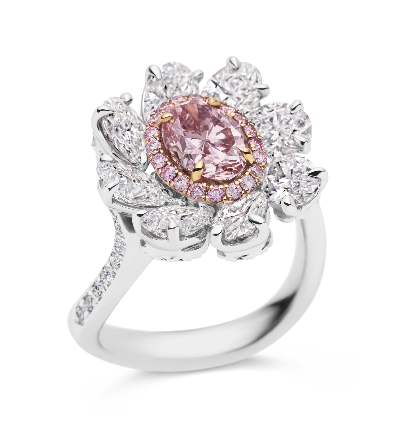Photo of Argyle Pink and White Diamond Ring