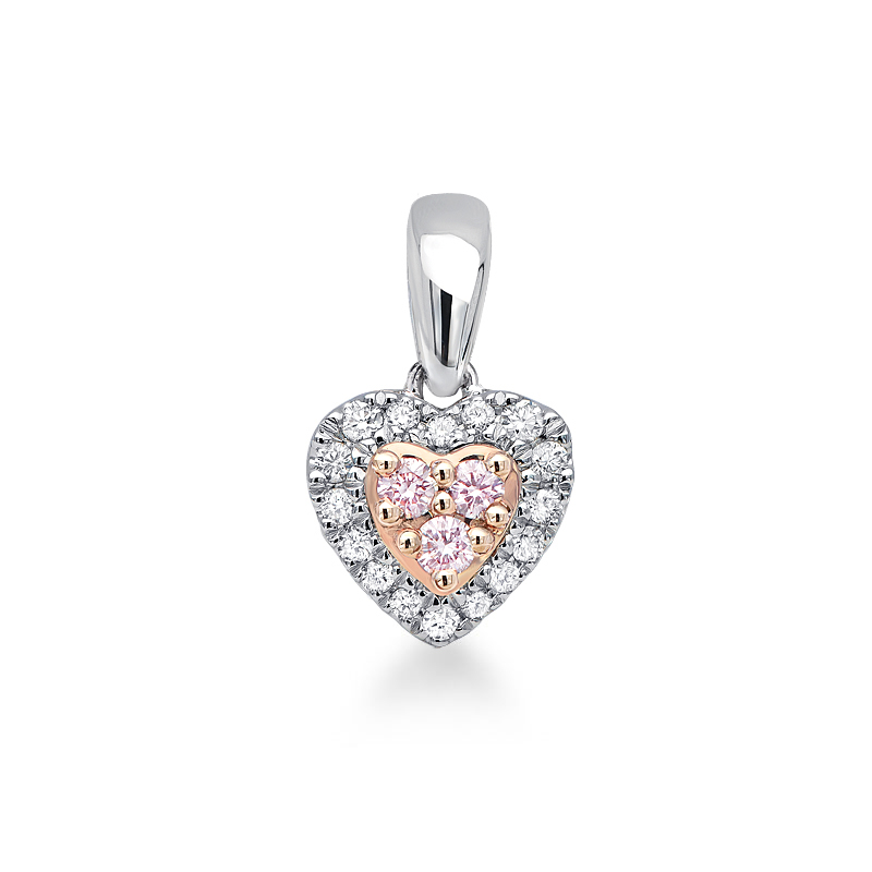 Photo of Blush Pink and White Diamond Pendant