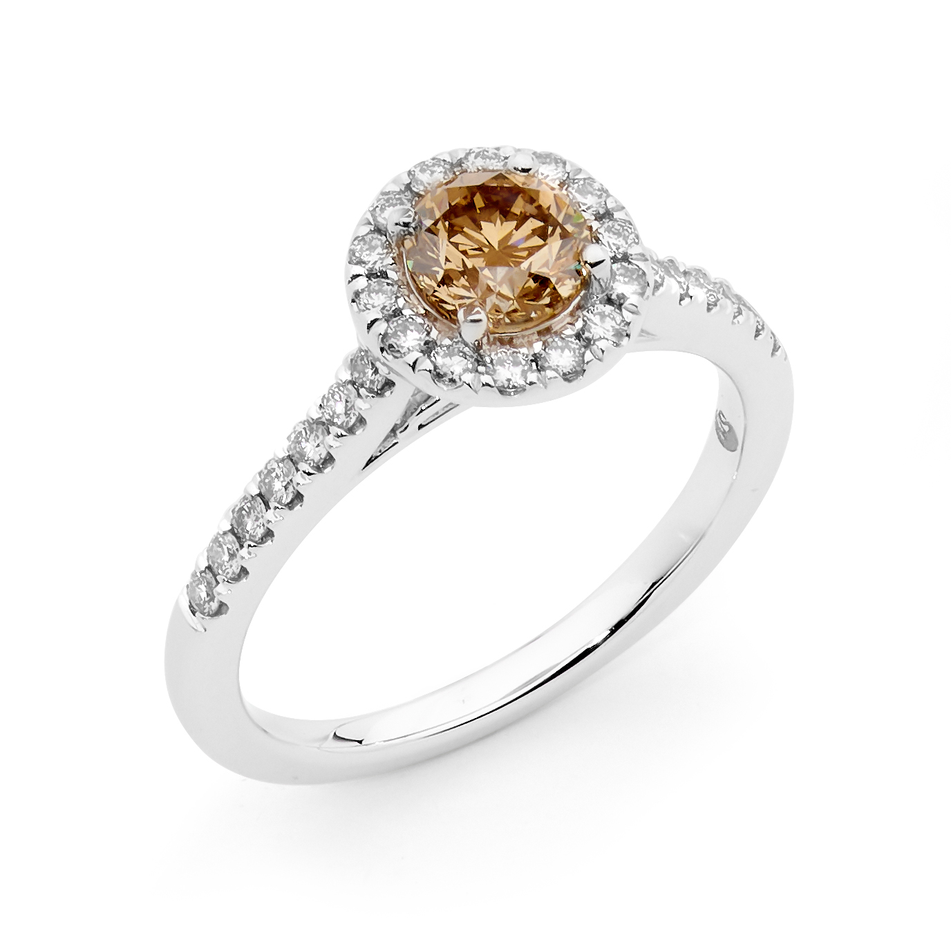 Photo of Champagne and White Diamond Ring